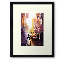 New York City, watercolour Framed Print
