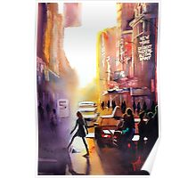 New York City, watercolour Poster