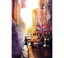 New York City, watercolour Photographic Print