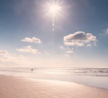 Sunshine and surf - muted tones version by Zoe Power