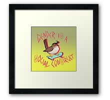 Rad Bird Framed Print