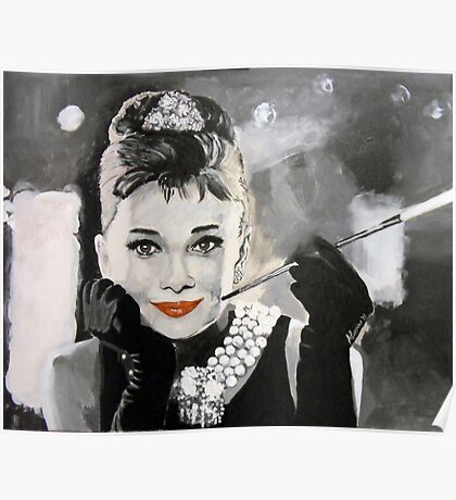 Audrey in Breakfast at Tiffanys Poster