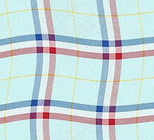 Tartan effect Red White Blue flag by stuwdamdorp