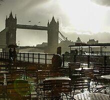 Sunny Rainstorm in London, England by Georgia Mizuleva