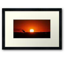 Sunrise In The Big Smoke Framed Print