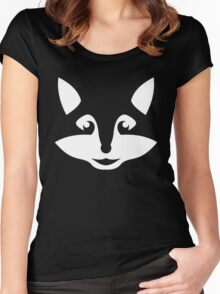 Cute Minimalist Fox Women's Fitted Scoop T-Shirt