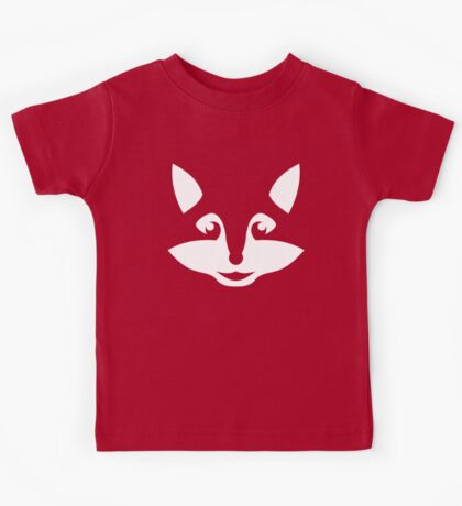 Cute Minimalist Fox Kids Tee