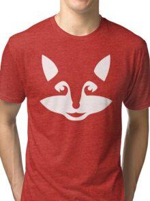 Cute Minimalist Fox Tri-blend T-Shirt