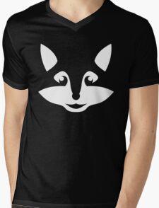 Cute Minimalist Fox Mens V-Neck T-Shirt