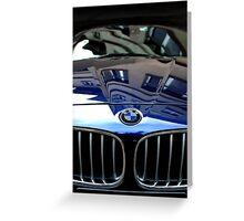 Blue BMW Greeting Card