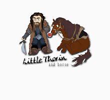 Little Thorin and Horse Cartoon Tee Print T-Shirt