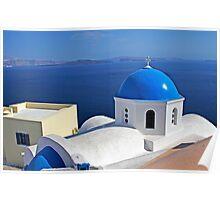 Classic Santorini Poster