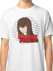 Makise Kurisu Simplistic Vector Steins;Gate Classic T-Shirt