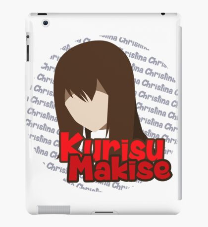 Makise Kurisu Simplistic Vector Steins;Gate iPad Case/Skin