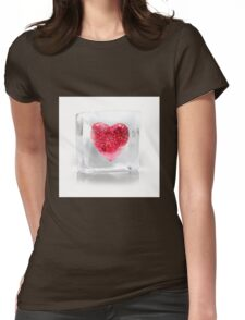Crystal Heart Womens Fitted T-Shirt