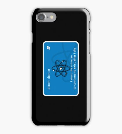 atom donor card [iPhone] iPhone Case/Skin