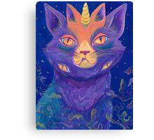 Galactic Kitties: Topaz Canvas Print