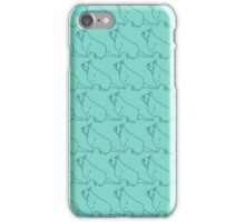 Teal French Bull Dogs Pattern iPhone Case/Skin