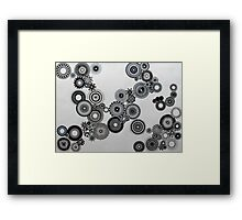Abstract Black and white spiral fun! Framed Print