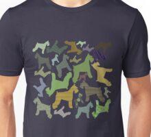 schnauzer pattern *black* Unisex T-Shirt