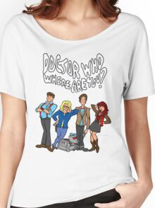 """""""Doctor Who, Where Are You?"""" Women's Relaxed Fit T-Shirt"""