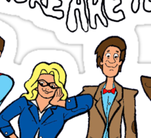 """""""Doctor Who, Where Are You?"""" Sticker"""