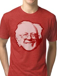 Bernie Sanders Head (red) Tri-blend T-Shirt