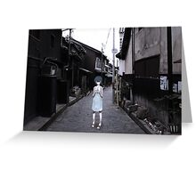 mini Rei in Tokyo Greeting Card