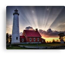 Tawas Point Lighthouse Sunset Canvas Print