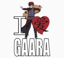 I Love Gaara Kids Clothes