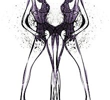 Ink Blot Ladies 05 by knkoehler