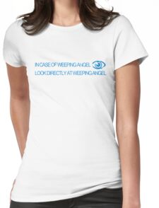 In Case of Weeping Angel Womens Fitted T-Shirt