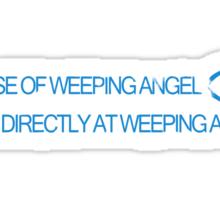 In Case of Weeping Angel Sticker