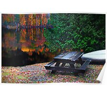 The Canoe and the Picnic Table Poster