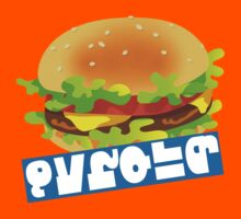 Splatfest Team Burger v.4 Kids Tee