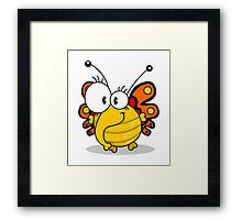 Cartoon butterfly Framed Print
