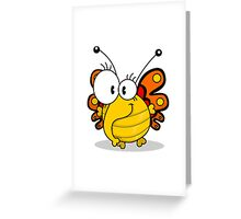 Cartoon butterfly Greeting Card