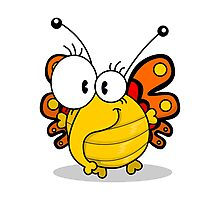 Cartoon butterfly Photographic Print