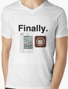 Jailbreak Cydia White iPod Mens V-Neck T-Shirt