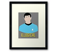 Illogical Spock Star Trek Portrait Framed Print
