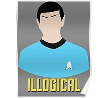 Illogical Spock Star Trek Portrait Poster