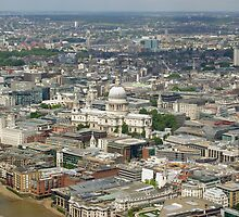 St Paul's Cathedral & the City of London, seen from the top of the Shard (UK) by Philip Mitchell