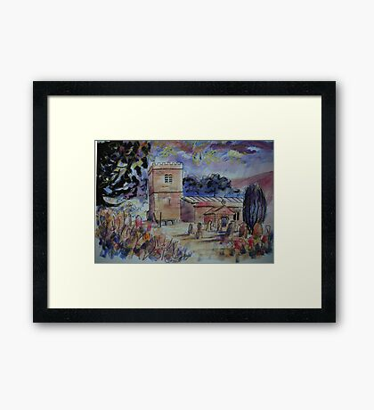 'St Michael & All Angels, Hubberholme, Yorkshire Dales' Framed Print
