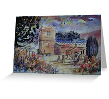 'St Michael & All Angels, Hubberholme, Yorkshire Dales' Greeting Card