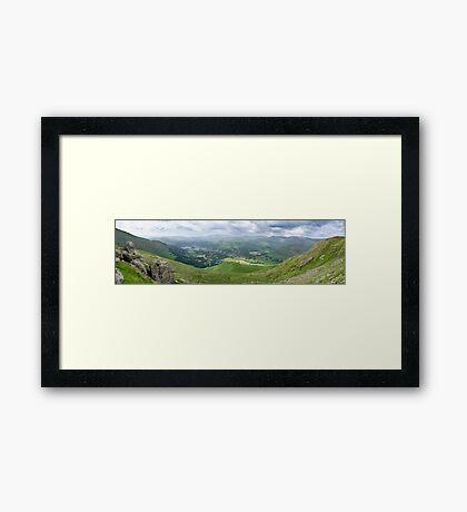 Grasmere Panorama, Lake District National Park Framed Print