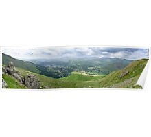 Grasmere Panorama, Lake District National Park Poster