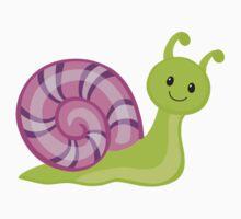Cute cartoon snail Kids Tee