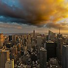 Top of the Rock Sunset After Storm by Randy  Le'Moine