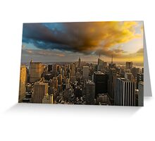 Top of the Rock Sunset After Storm Greeting Card