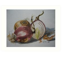 Knowing your Onions Art Print